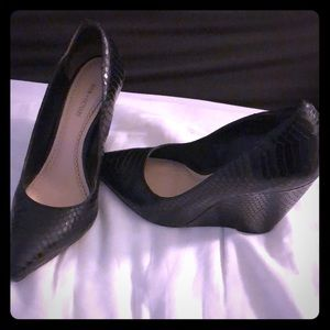 Leather Wedge Heels